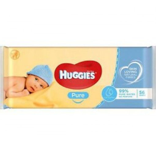 Picture of HUGGIES PURE WIPES 56PCS