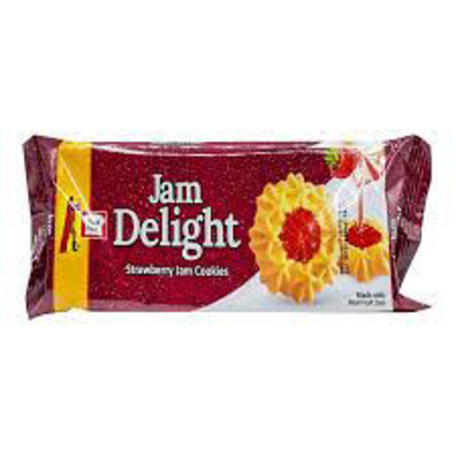 Picture of PEEK FREANS JAM DELIGHT STRAWBERRY JAM BISCUIT