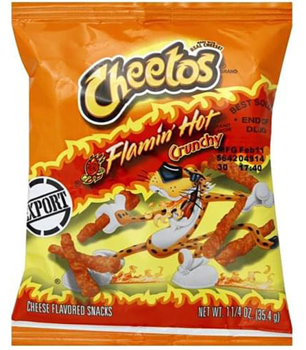 Picture of CHEETOS FLAMIN HOT CRUNCHY 35.4G