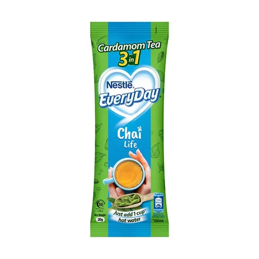 Picture of NESTLE EVERYDAY CHAI LIFE 3 IN 1 CARAMOM TEA 20GM
