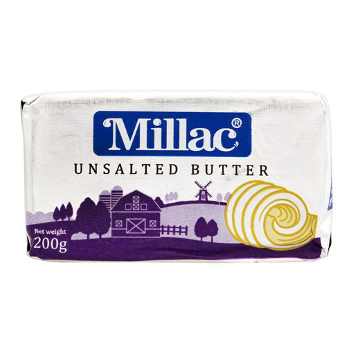 Picture of MILLAC UNSALTED BUTTER WHITE 200G