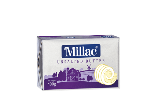 Picture of MILLAC UNSALTED BUTTER WHITE 100G