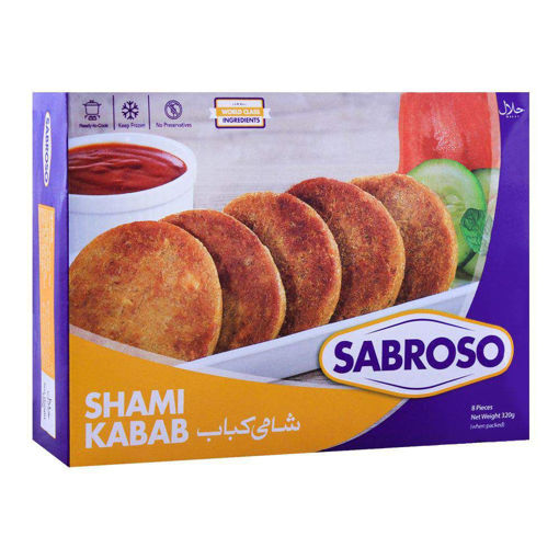 Picture of SABROSO SHAMI KABAB STANDARD PACK 240G