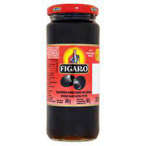 Picture of FIGARO PITTED BLACK OLIVES 340G