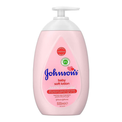 Picture of JOHNSONS BABY SOFT LOTION WITH COCONUT OIL500ML