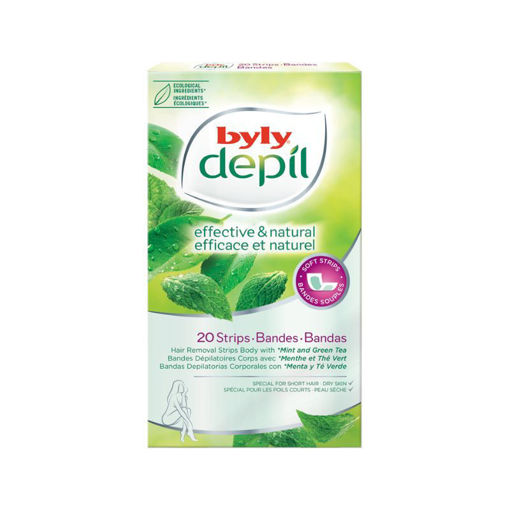 Picture of BYLY EFFECTIVE & NATURAL MINT & GREEN TEA BODY STRIPS MINT 20s