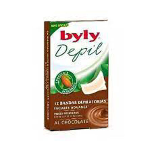 Picture of BYLY DEPILATORIOS FACIAL CHOCOLATE BANDS 12 UNITS