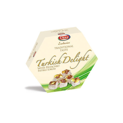 Picture of USAS TURKISH DELIGHT WITH PISTACHIO 284G