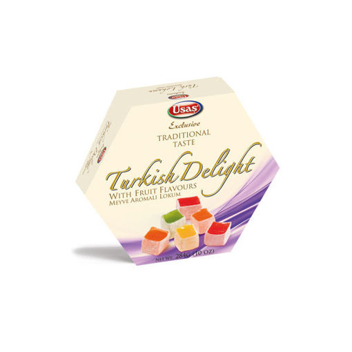 Picture of USAS TURKISH DELIGHT WITH FRUIT FLAVOURS 284G