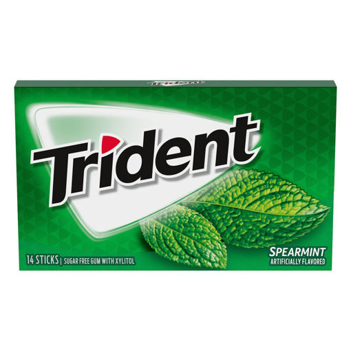 Picture of TRIDENT GUM SPEARMINT FLAVORED 14S