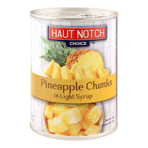 Picture of HAUT NOTCH PINEAPPLE CHUNKS LIGHT SYRUP 565G