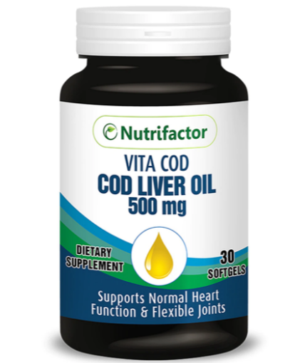 Picture of NUTRIFACTOR COD LIVER OIL 500MG TAB