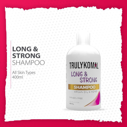 Picture of TRULYKOMAL LONG & STRONG ARGAN OIL & HONEY SHAMPOO 400ML