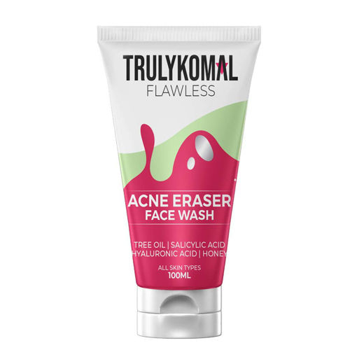 Picture of TRULYKOMAL FLAWLESS ACNE ERASER FACE WASH 100ML