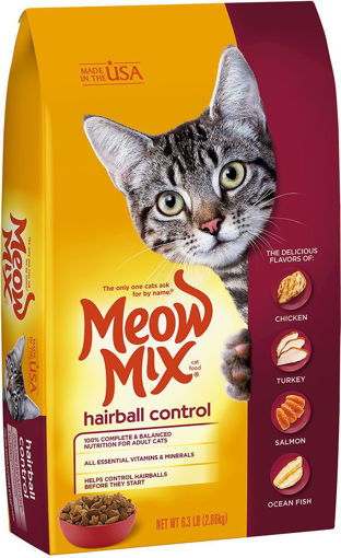 Picture of MEOW MIX HAIRBALL CONTROL 2.86KG