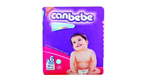 Picture of CANBEBE SUPER EXTRA LARGE DIAPER SIZE 6 24 PCS