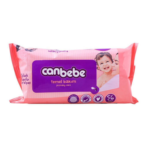 Picture of CANBEBE PRIMARY CARE WET BABY WIPES, 56-PACK