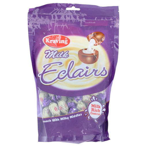 Picture of KRAVING MILK ECLAIRS MILK RICH CENTRES 350G