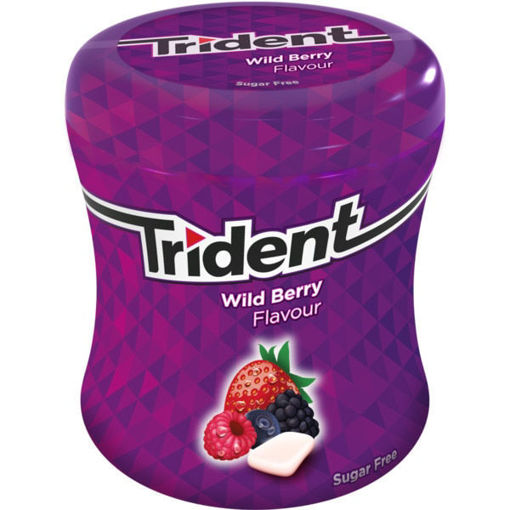 Picture of TRIDENT WILD BERRY FLAVOUR SUGAR FREE 82.6G