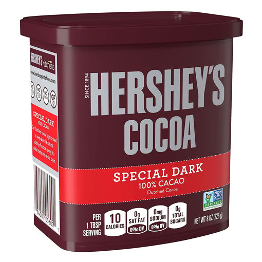 Picture of HERSHEYS COCOA SPECIAL DARK POWDER 100% 226G