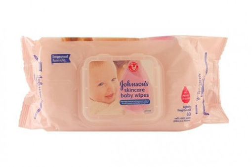 Picture of JOHNSONS SKINCARE BABY WIPES 80