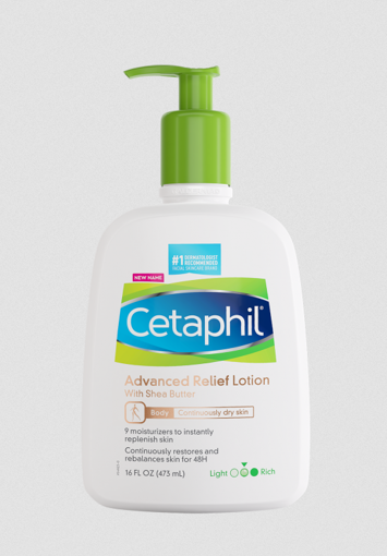 Picture of CETAPHIL ADVANCED RELIEF LOTION WITH SHEA BUTTER DRY SKIN 16 FL OZ (473 ML)