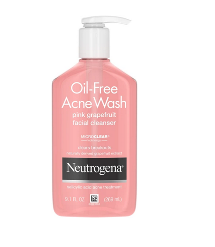 Picture of NEUTROGENA OIL FREE ACNE WASH PINK GRAPEFRUIT CLEANSER 269ML