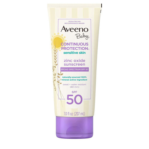Picture of AVEENO BABY CONTINUOUS PROTECTION SENSITIVE SKIN ZINC OXIDE SUNSCREEN 207 ML