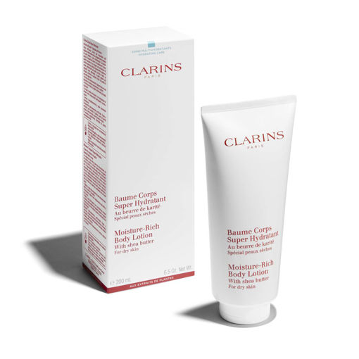 Picture of CLARINS BAUME CORPS SUPER HYDRATANT MOISTURE RICH BODY LOTION WITH SHEA BUTTER 200ML