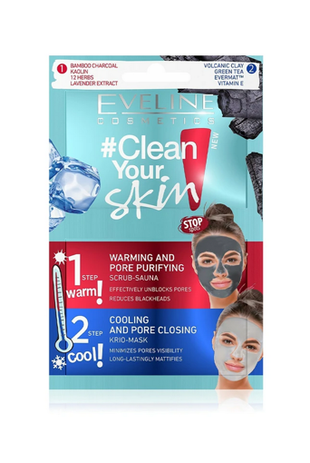 Picture of EVELINE CLEAN YOUR SKIN WARMING AND PORE PURIFYING FACE MASK 10ML