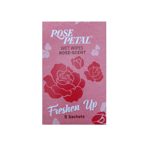Picture of ROSE PETAL WET WIPES ROSE SCENT 5 SACHETS