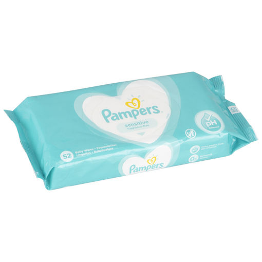 Picture of PAMPERS SENSITIVE FRAGRANCE-FREE - 52 WIPES