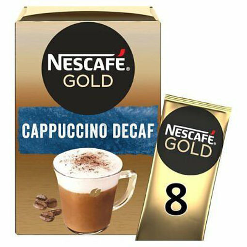 Picture of NESCAFE GOLD CAPPUCCINO DECAF 8S