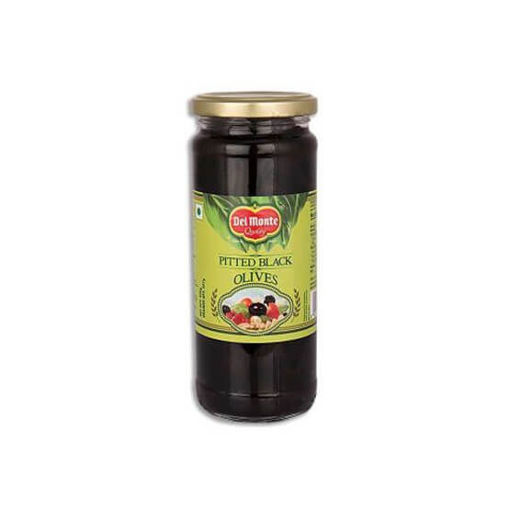 Picture of DEL MONTE PITTED BLACK OLIVES 235G