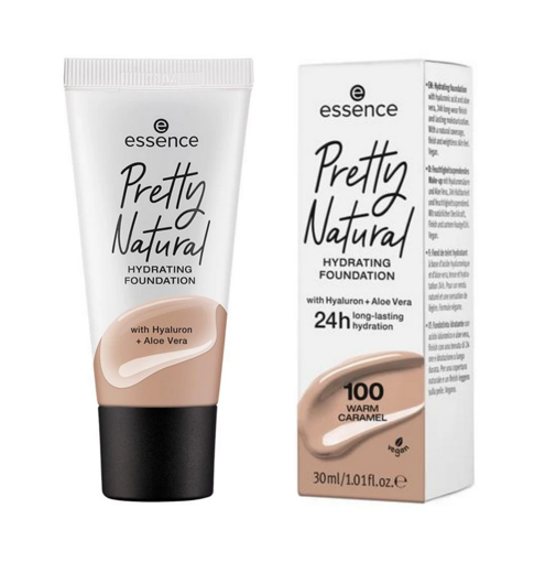 Picture of ESSENCE PRETTY NATURAL HYDRATING FOUNDATION 100 WARM CARAMEL 30ML