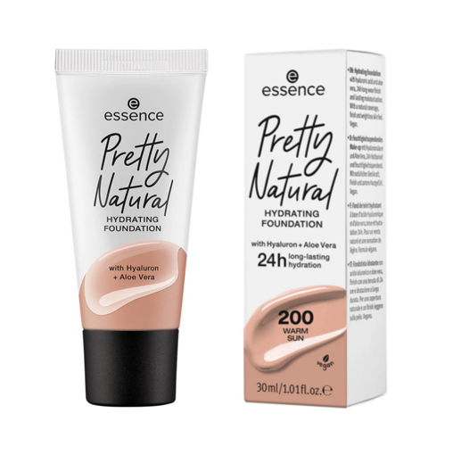 Picture of ESSENCE PRETTY NATURAL HYDRATING FOUNDATION 200 WARM SUN 30ML
