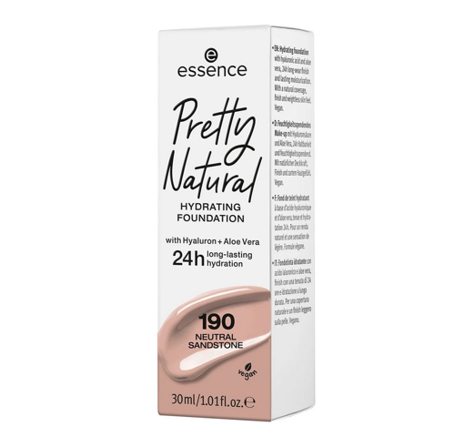 Picture of ESSENCE PRETTY NATURAL HYDRATING FOUNDATION 190 NEUTRAL SANDSTONE 30ML