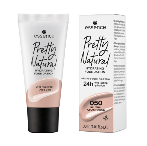 Picture of ESSENCE PRETTY NATURAL HYDRATING FOUNDATION 050 NEUTRAL CHAMPAGNE 30ML