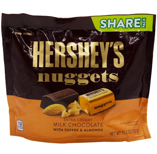 Picture of HERSHEYS NUGGETS EXTRA CREAM MILK CHOCOLATE 289G