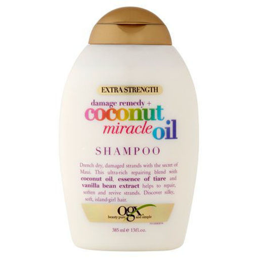Picture of OGX ORGANIX OGX SHAMPOO COCONUT MIRACLE OIL 13 OUNCE X-STRENGTH 385ML